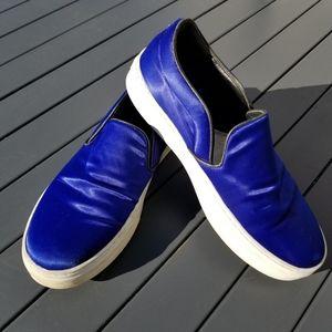 Celine satin slip on sneakers